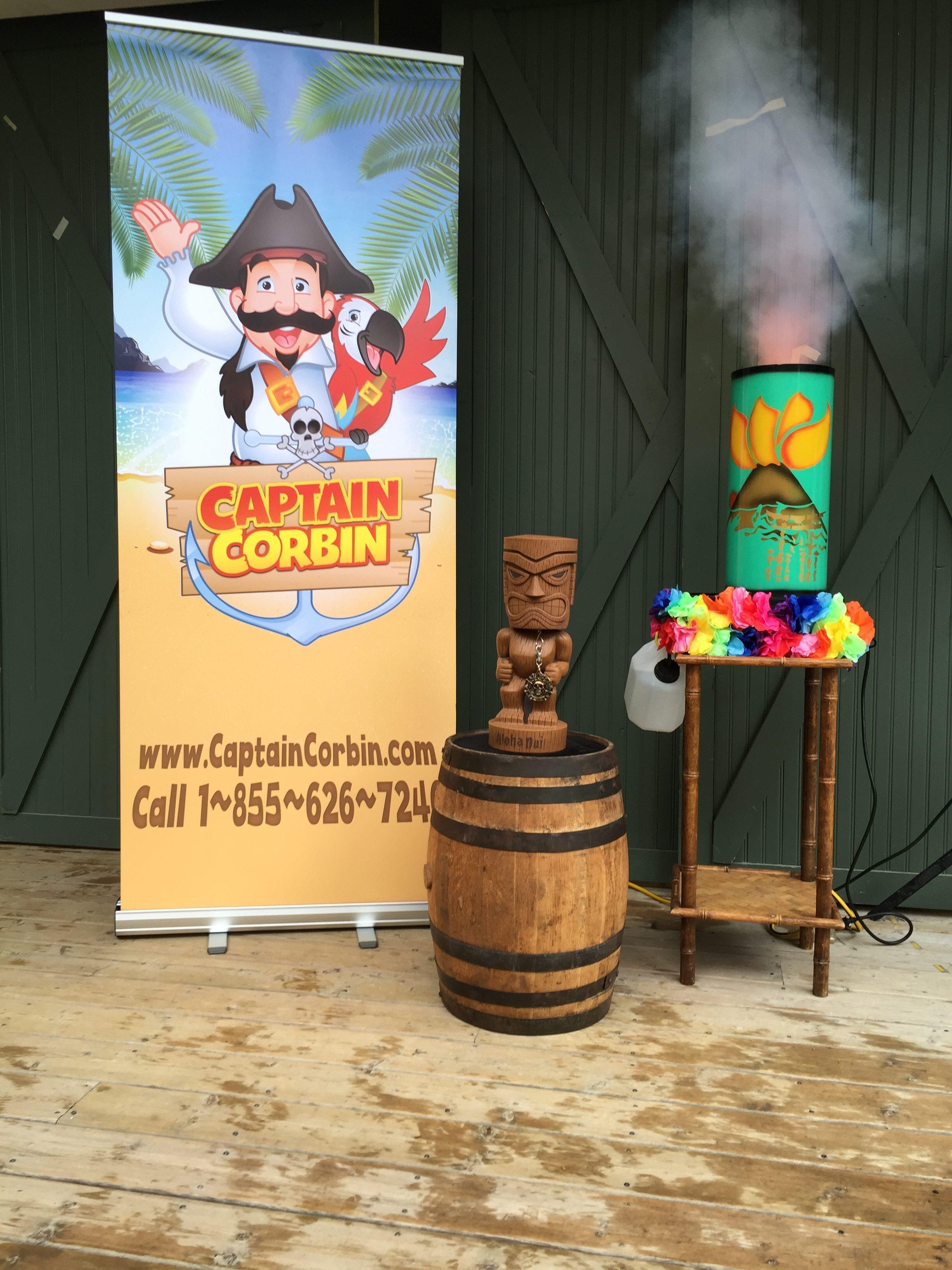 tiki, pirate, magic show, volcano