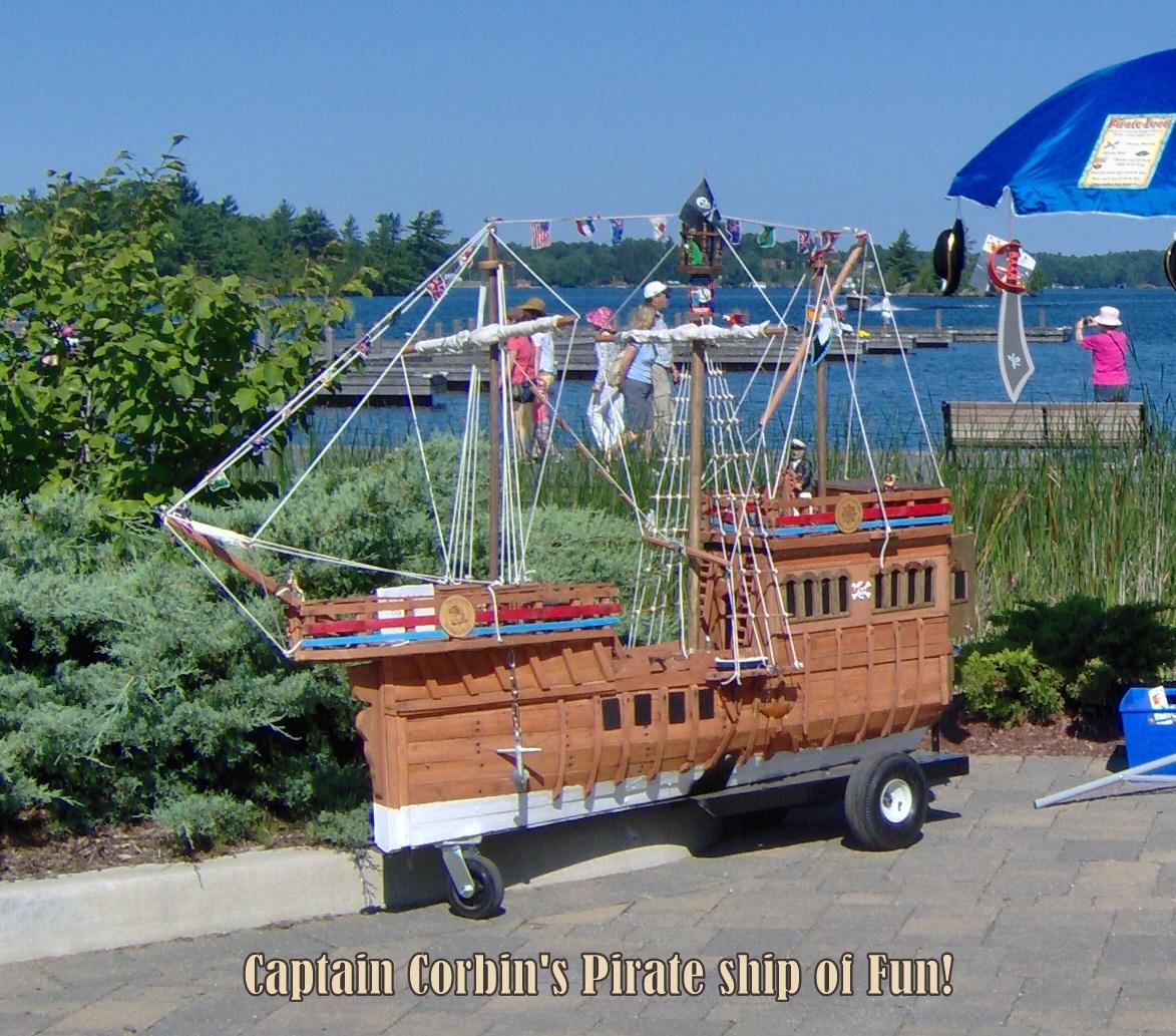 Pirate ship, magic pirate, wooden ship, pirate magician