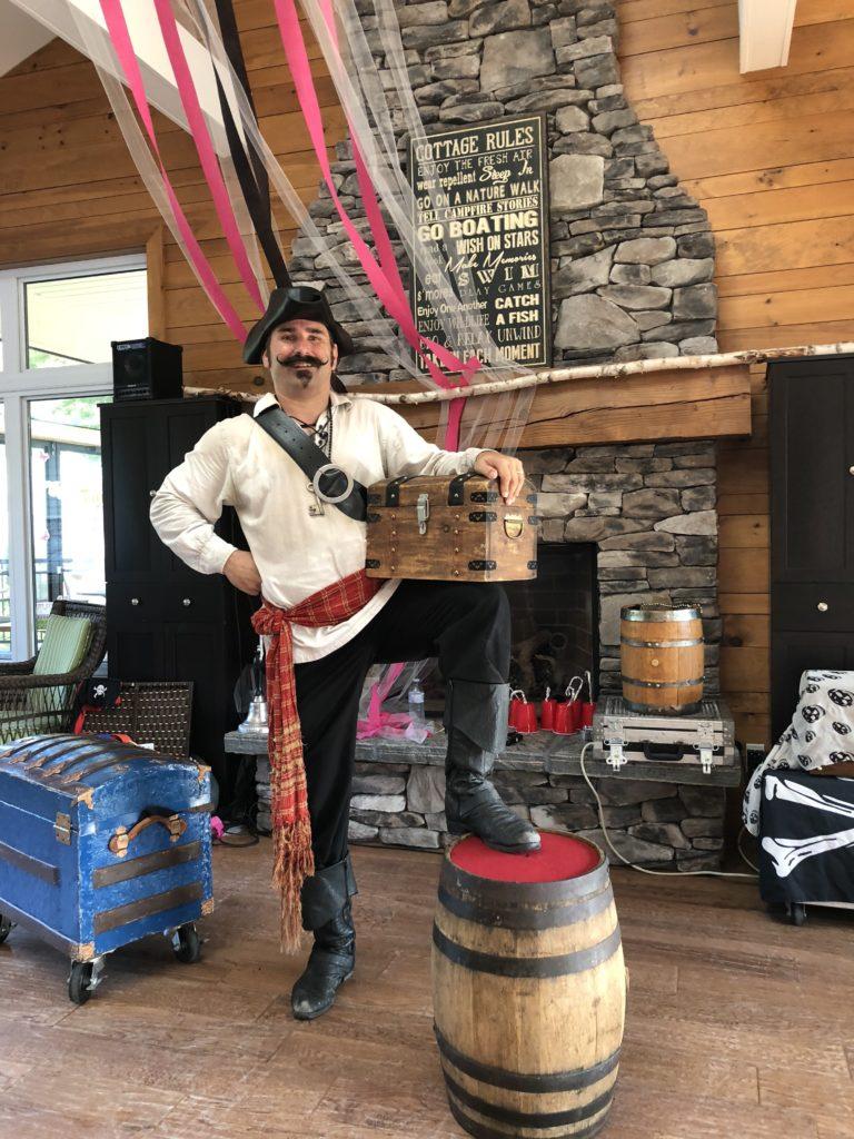 Event entertainment, Pirate show, magic show, pirate magician, children's entertainer, party ideas