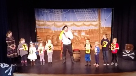 magic pirate performing educational magic show literacy