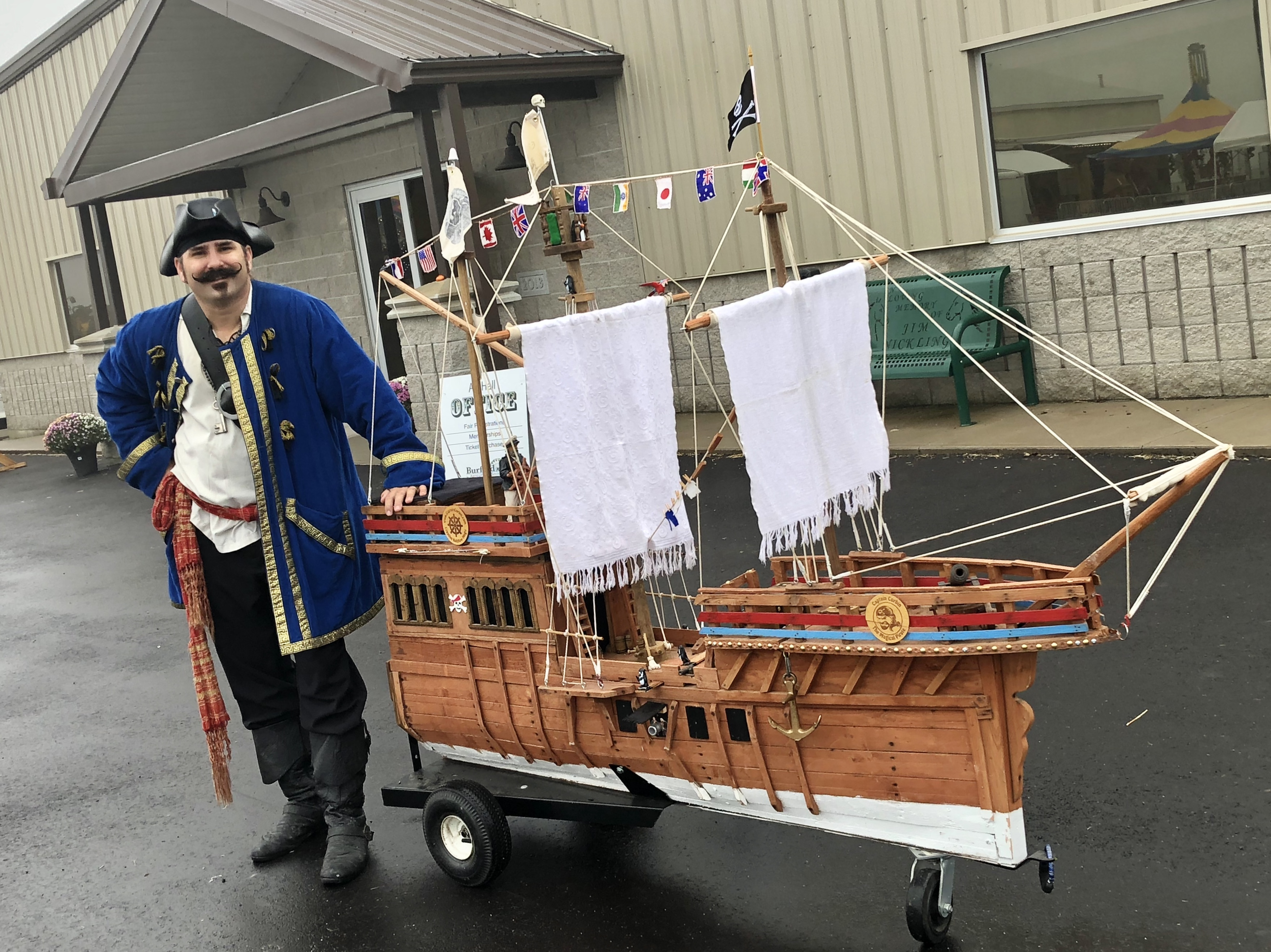 magic pirate ship, magic pirate, pirate show, event attraction